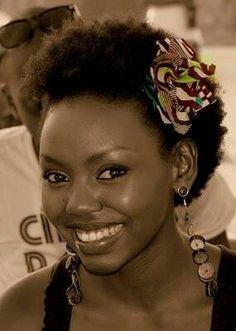 Kenyan - Patricia Kihoro with short hair!