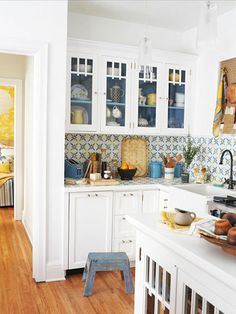 AFTER: Colorful Kitchen Redo