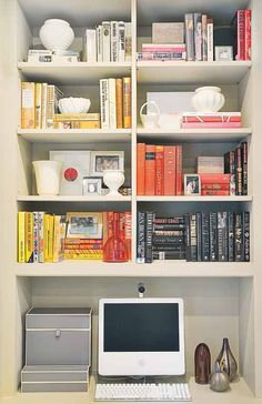 How To Style a Bookcase in Five Easy Steps we can help! www.magichomestaging.ca