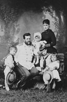Levitsky - Grand Duke and Grand Duchess Vladimir of Russia with Grand Duke's Kyrill, Boris and Andrei and Grand Duchess Elena. [Album: Photographs. Royal Portraits, 1876-1898]