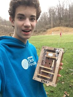 A maze geocache. Have you ever found a neat gadget cache? (markwebb52 pic) #IBGCp