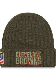 new arrival 21a2b 70742 New Era Cleveland Browns Brown Cuff Pom Knit Hat