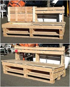 Patio if decorated well and furniture is placed on it can be used for enjoying the weather with the family, so here we are showing an idea to create a bench with the pallets and unique idea. The bench is comfortable to sit and relax the back.