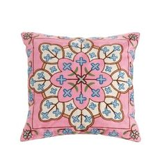 Shop for Layla Embroidered Cotton/Polyester 18-inch Throw Pillow. Free Shipping on orders over $45 at Overstock.com - Your Online Home Decor Outlet Store! Get 5% in rewards with Club O! - 19299034