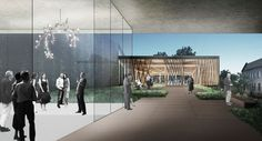 Studio Gang Breaks Ground on Chicago Writers' Theatre  Rooftop Terrace and Patrons' Lounge. Image Courtesy of Studio Gang Architects
