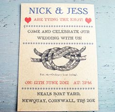 Who says a wedding invite has to be plain - it should reflect the two of you. Love this!