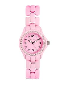 Cotton candy pink watch.