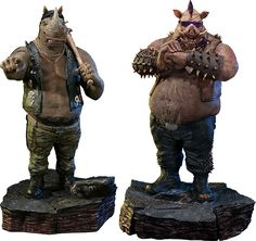 TMNT Rocksteady & TMNT Bebop Polystone Statue by Prime 1 Studio | Sideshow Collectibles