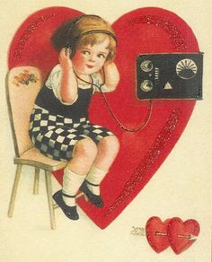 Free vintage Valentine printables
