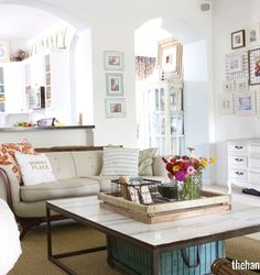 I don't normally like rooms painted white but this is definitely an exception! It has great pops of color in the accessories.