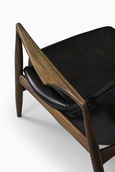 Ib Kofod-Larsen seal chairs in teak and leather at Studio Schalling