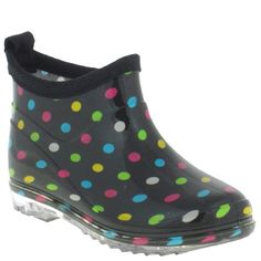 Capelli New York Multi Polka Dots Printed Girls Slip-On Bootie