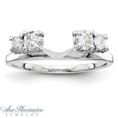 14k White Gold 1/2 ct tw Diamond Ring Wrap