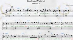 Ariana Grande — Boyfriend Material Piano Sheets, demo from Yours Truly album