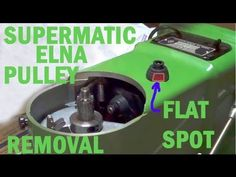 Elna 722077 motor pulley replaced due to flat spot. Green Elna in video is a 1952 model 722010; Beige model in video is an early 1963 722010. The 1952 Green ...