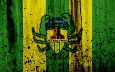 Download wallpapers FC Panama Viejo, 4k, grunge, Liga Panamena, logo, football club, Panama, Panama Viejo, soccer, LPF, stone texture, Panama Viejo FC