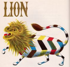 Lion by my vintage book collection (in blog form), via Flickr