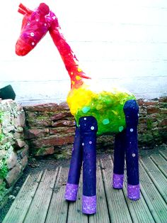Geoffrey our paper mache giraffe.   https://www.facebook.com/pages/Lets-Craft-A-Party/261674700680306