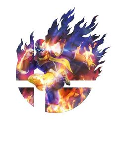 'Smash Hype - Captain Falcon' Fitted Scoop T-Shirt by Little Mac, Nintendo Super Smash Bros, Princess Art, Cool Animations, Smash Bros Tournament, Mario And Luigi, Fighting Games, Cool Art, Concept Art