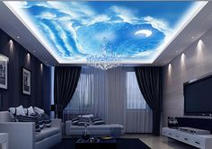 customized-photo-wallpaper-3d-font-b-ceiling-b-font-wall-murals-wallpaper-font-b-Sky-b.jpg (919×648)