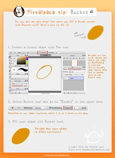 Here's my first Firealpaca tip! A deviant asked about it in so I decided the best explanation would be a visual one xD Anti-aliasing in most pen/brush t. Firealpaca tip: Bucket Tool Digital Painting Tutorials, Digital Art Tutorial, Painting Tools, Drawing Tutorials, Drawing Tips, Drawing Reference, Art Tutorials, Drawing Ideas, Firealpaca Brushes