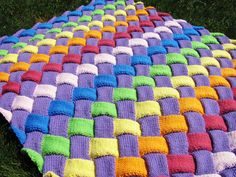 Entrelac Knitted Blanket  I know what my next project will be