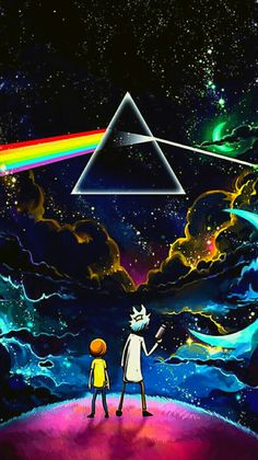 Rick Morty Pink Floyd Dark Side Of The Moon 25 X 45 Fridge