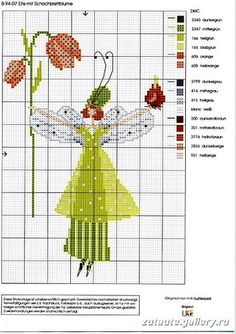 Fairy with orange flower 2 pattern