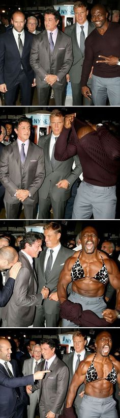 Terry Crews, I seriously LOVE this man! Go watch his video playing the drums with his muscles!!