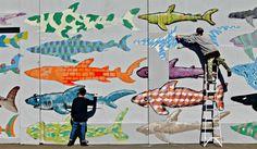 Taranaki street artists BMD announce seperation, reveal identities Graffiti, Photo, Art For Art Sake, Shark Art, Image, Art, Street Artists, Shark Mural
