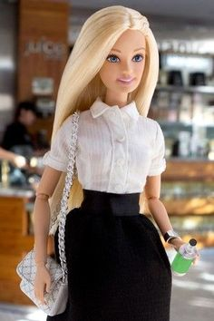 Barbie with a green bottle