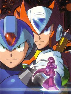 Game Boy cover art for Mega Man Xtreme 2 Mega Man, Akira, Maverick Hunter, Manga Anime, Video Game Art, Video Games, Megaman Series, Gaming Wall Art, Fighting Robots