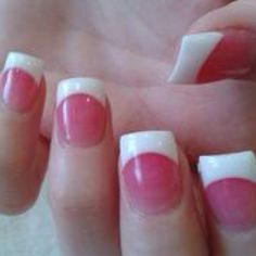Dark pink and white solar nails 2017
