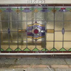 Glas in Lood Raam - Glas-in-Lood ramen - Glas-in-Lood   Te koop bij Leen Oude Bouwmaterialen   Oude deuren
