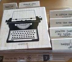 Stampin' Up *YOUR MY  TYPE* 7 pc Mounted Rubber Stamp Set. Retired. Stampin Up, Cards Against Humanity, Crafts, Ebay, Crafting, Diy Crafts, Craft, Arts And Crafts, Handmade Crafts