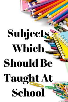 Subjects Which Should Be Taught At School - My best education list Blog Categories, School Subjects, Budgeting Finances, Do You Remember, Money Management, English Language, Teaching Kids, School School, Things To Think About