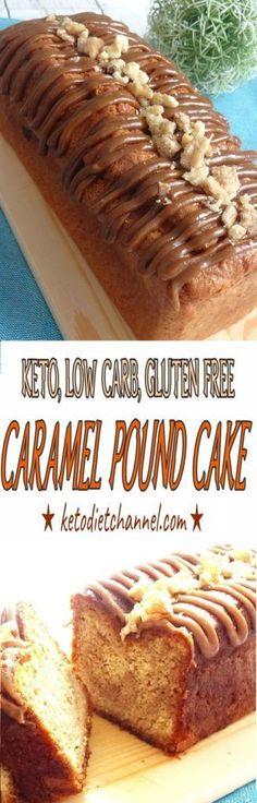 Caramel Swirl Pound Cake - Keto, Low Carb, Gluten Free, Sugar Free