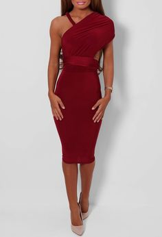 Pink Boutique Clique Wine Slinky Multiway Dress £25 http://www.pinkboutique.co.uk/clique-wine-slinky-multiway-dress.html #pinkboutique