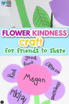 This flower kindness craft from Coffee and Carpool is perfect for one friend or perfect for classrooms and camps and Scout groups. It's a fun way they can share why they're such great friend. Grab this friendship flower idea to use with your kids or small group.