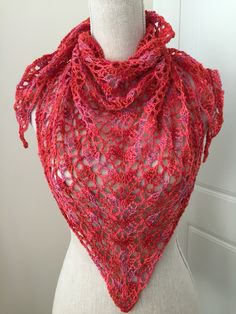 Mothers Day pinky lace shawl