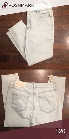 NWT Curvy High Waist Skinny Raw Hem Ankle Jeans Brand new, with tags. High waist, with a raw hem, and a light wash. They're contoured to flatter the hip and thigh. Size 10P/30P. LOFT Jeans Skinny