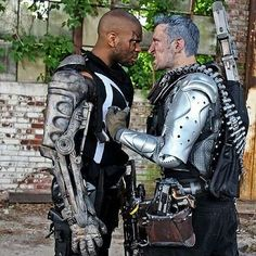 Character: Bishop & Cable Cosplayers: Ryan Green & ??? Series: MARVEL Comics