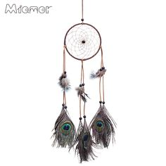 Plush Wall Stuff Imported From Abroad Handmade Decorative Rattan Dream Catcher Wall Hanging Dreamcatcher Feather Crafts Kids Stuff Wall Room Home Decor Wind Chimes