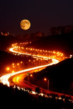 Roads and Moon