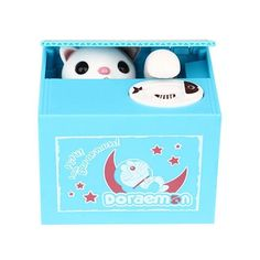 KAINISI Steal Money Mischief Bank Piggy Bank Cat Automatic Electric Stole Coin Piggy Bank Penny Saving Box Gifts Kids Toys