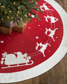Dashing Through the Snow Christmas Tree Skirt | Balsam Hill, $99