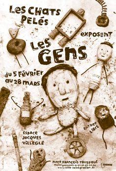 Les Chats Pelés Pochette Album, Art Brut, Adult Children, Arts And Crafts, Illustration, Poster, Il Piccolo Principe, Cats, Illustrations