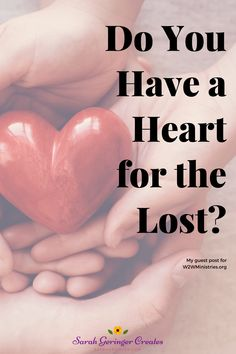 Is your heart hurting for lost people? This week, I started crying when viewing an Instagram account of someone I'm sure is lost... #heartforthelost #christianfaith #christianencouragement #prodigal