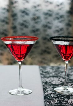 Cocktail rimming sugar  red and black martini rimming sugar for your gothic party or vampire True Blood-inspired Halloween wedding! by Dell Cove Spice Co, $7.95 (Photo by Selena Vallejo Photography)