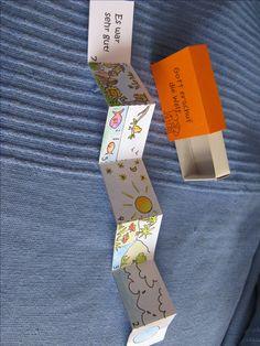 Schöpfung in der Streichholzschachtel, basteln biblische Geschichte, Kinder basteln, Kopiervorlage auf meiner Pinwand 'Kinderstunde'